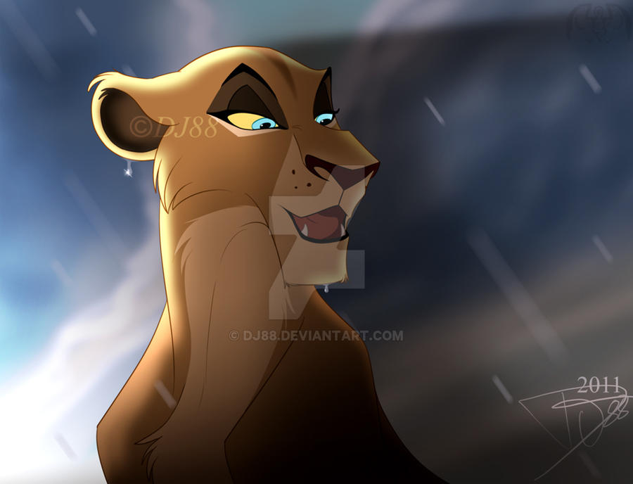 lion sitting drawing