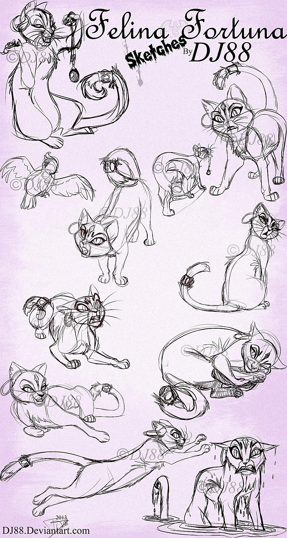 Felina Fortuna Live Stream Sketches by DJ88