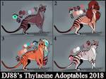 $30 Female Thylacine Adopts by DJ88