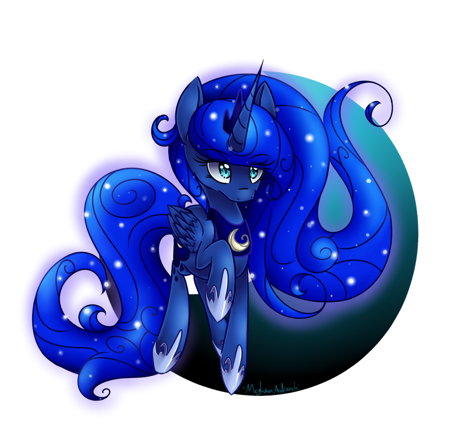 Princess Luna.... for the 500th time by Lemon-Heartss