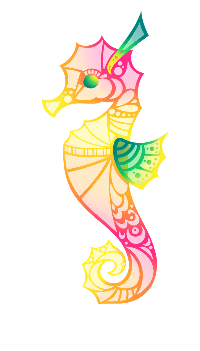 Pink Seahorse by Lemon-Heartss