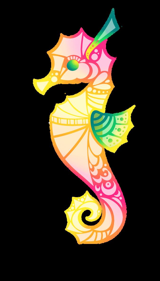 Pink Seahorse by Lemon-Heartss