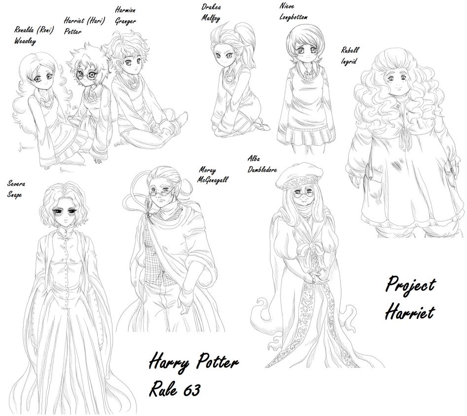 HP Genderbender: Doodle sheet by PritzPritz