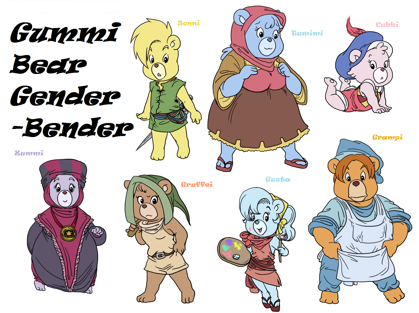 gummi bears gb by pritzpritz on deviantart rh deviantart com cute cartoon bear names cartoon teddy bear names