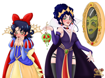 Evil Queen and Snow White full color layout