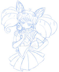 Sailor ChibiMoon says by JourneyToTheWestAgai