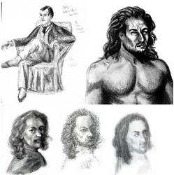 2 hr Sketches: Steer, Luca, Van Dyke
