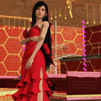 ~Tifa in Aerith's red dress~