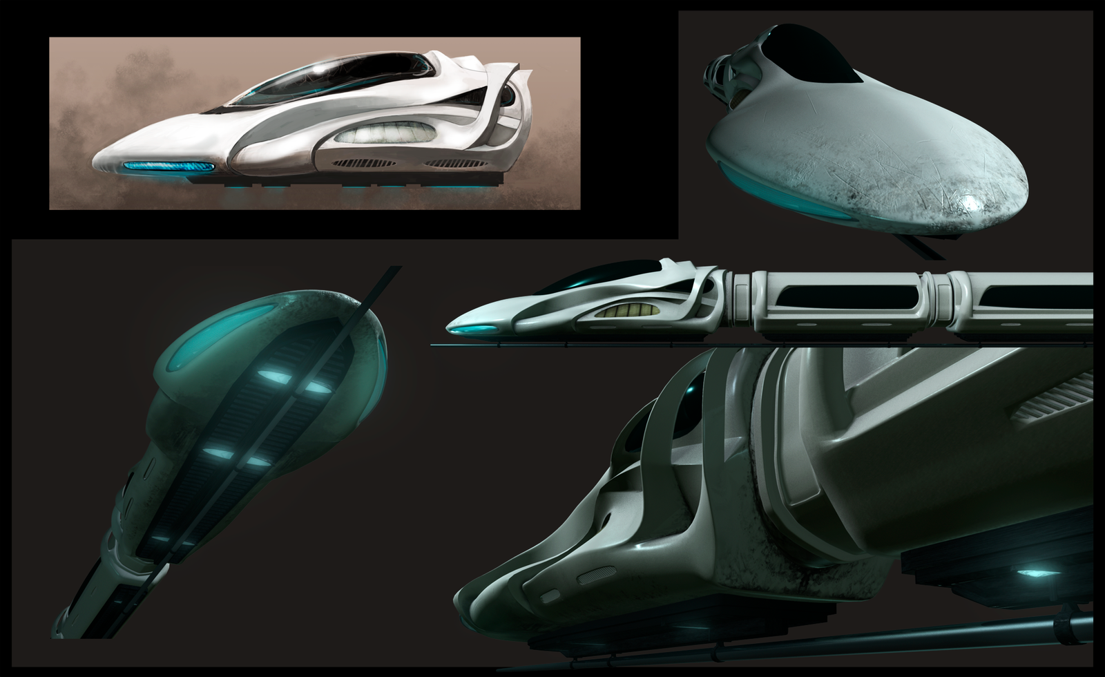 Hovertrain - Concept+Renders by samburley