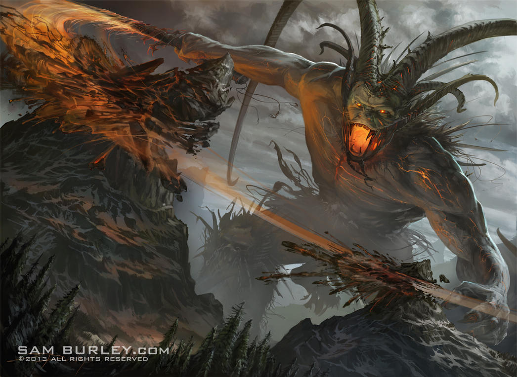 Surtr Fire Of Ragnarok By Samburley