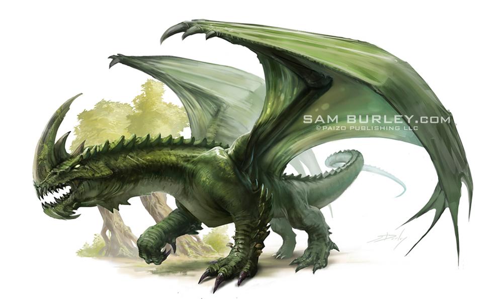 Green Dragon by samburley