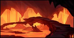 Herobane - Precarious Lava Bridge