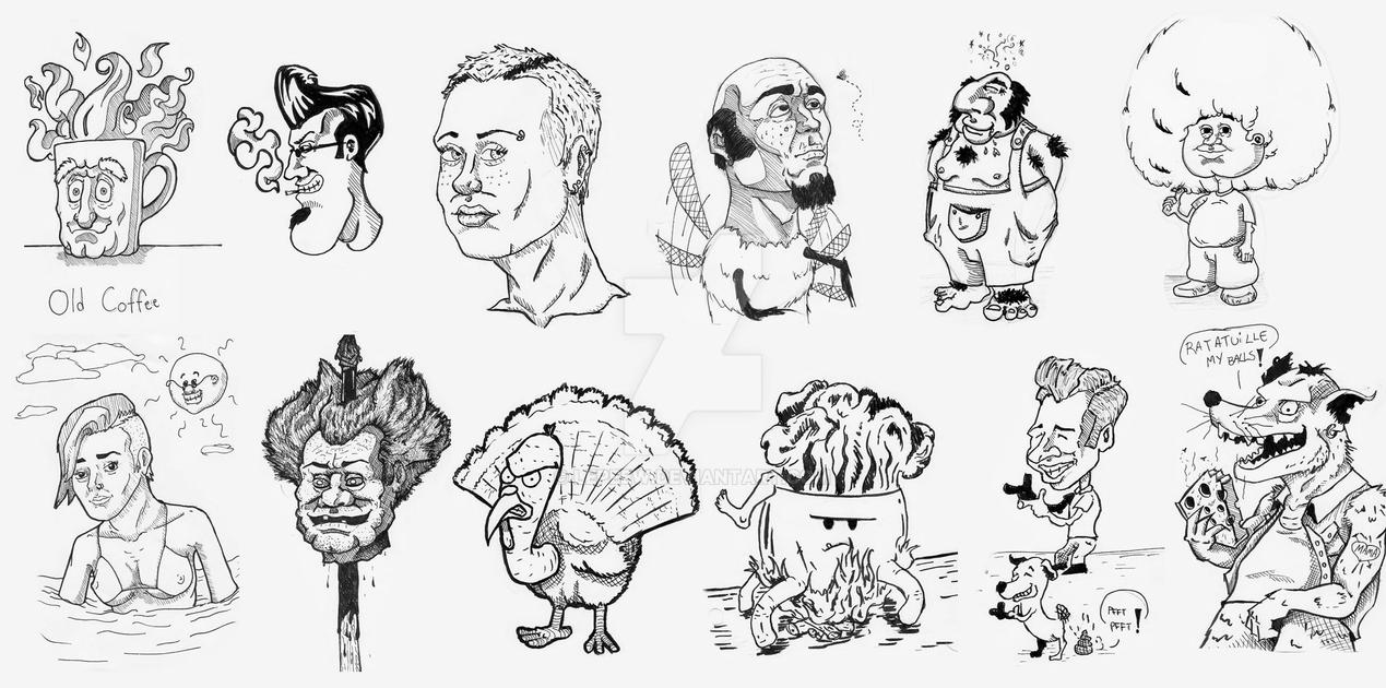Inktober 2016 Compilation 1 by Lepeew