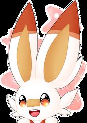 .:Fire Bunny Peeking:. by Muxicalm