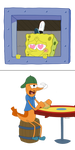 Spongebob and mickey! by terriperry