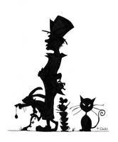 Silhouettes of madness. by Cado