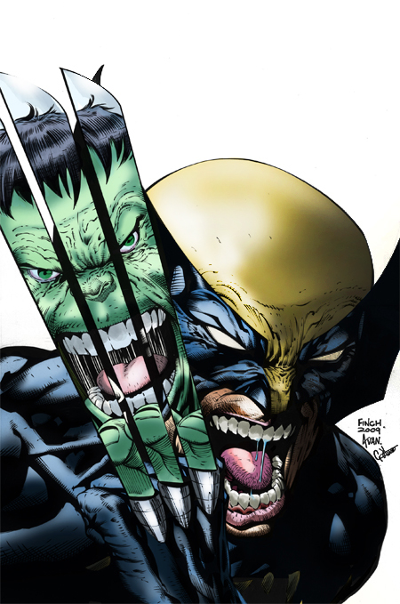 Wolverine Vs. Hulk by g45uk2