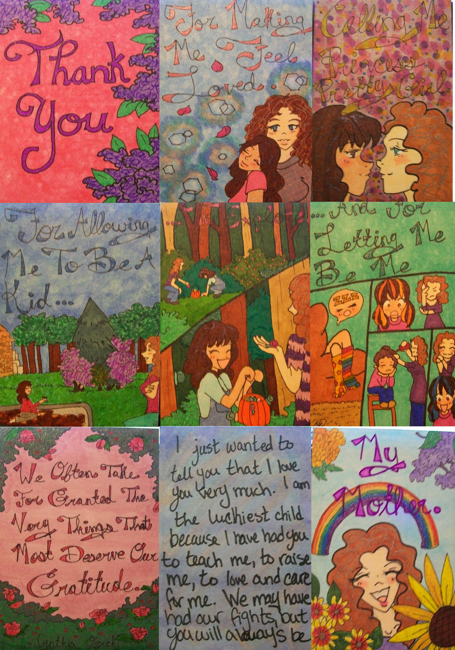 Mom's BookThank you ATCs by Penji