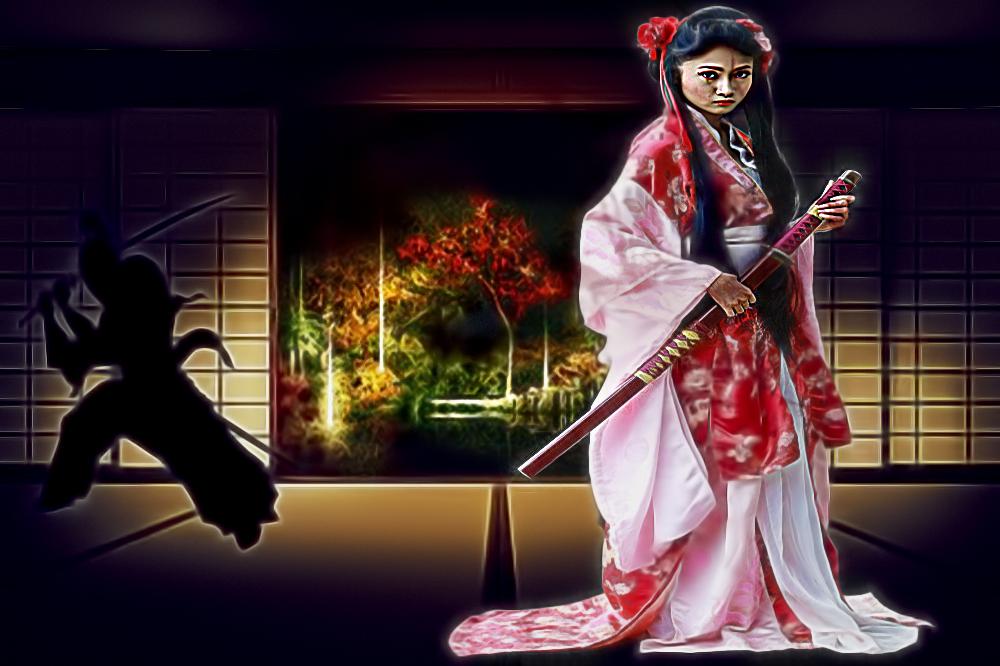 I Can Take'em-(Samurai Princess) by KarmeticPeace