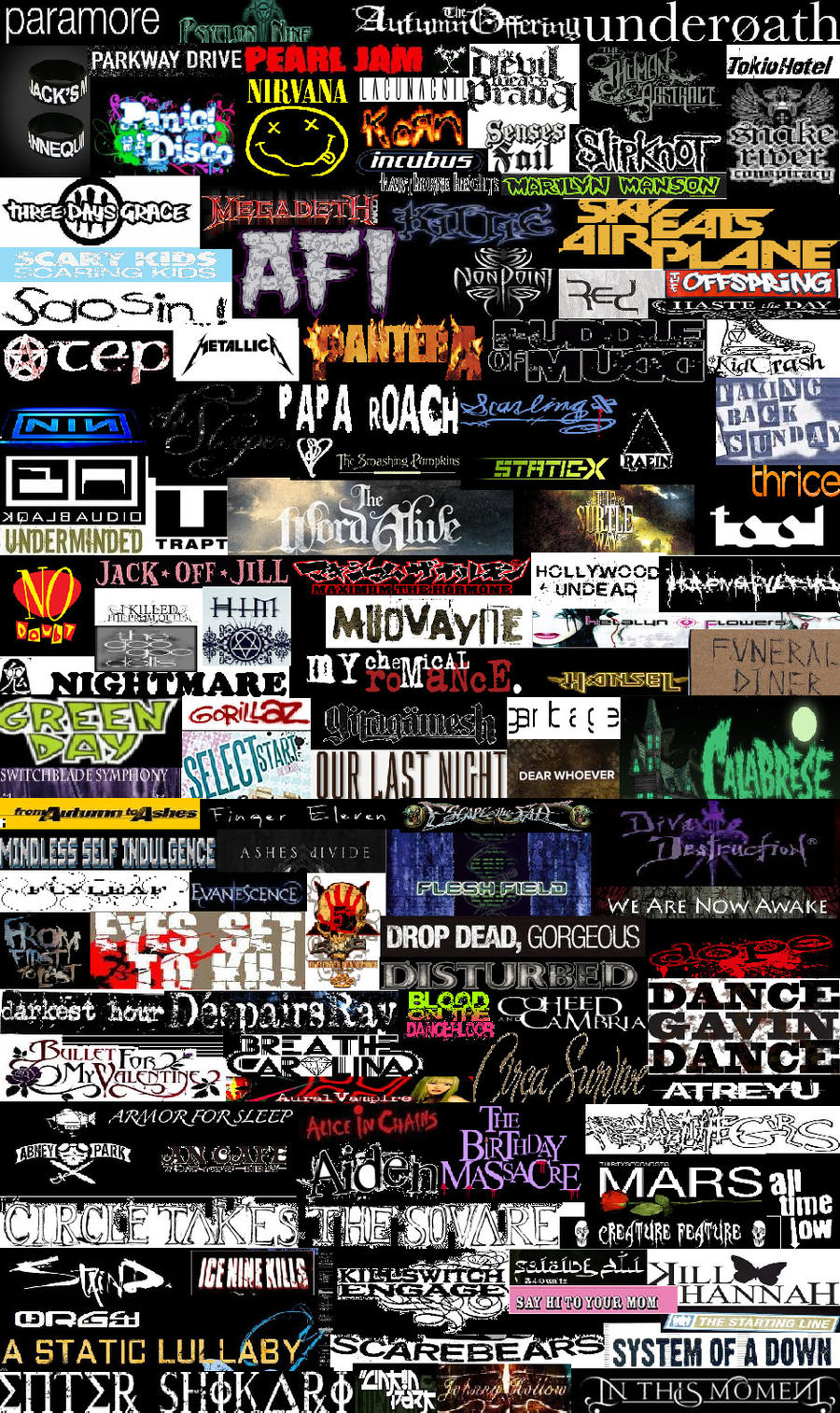 Best Wallpaper Logo Collage - band_collage_by_fatalrain  Graphic_723138.jpg
