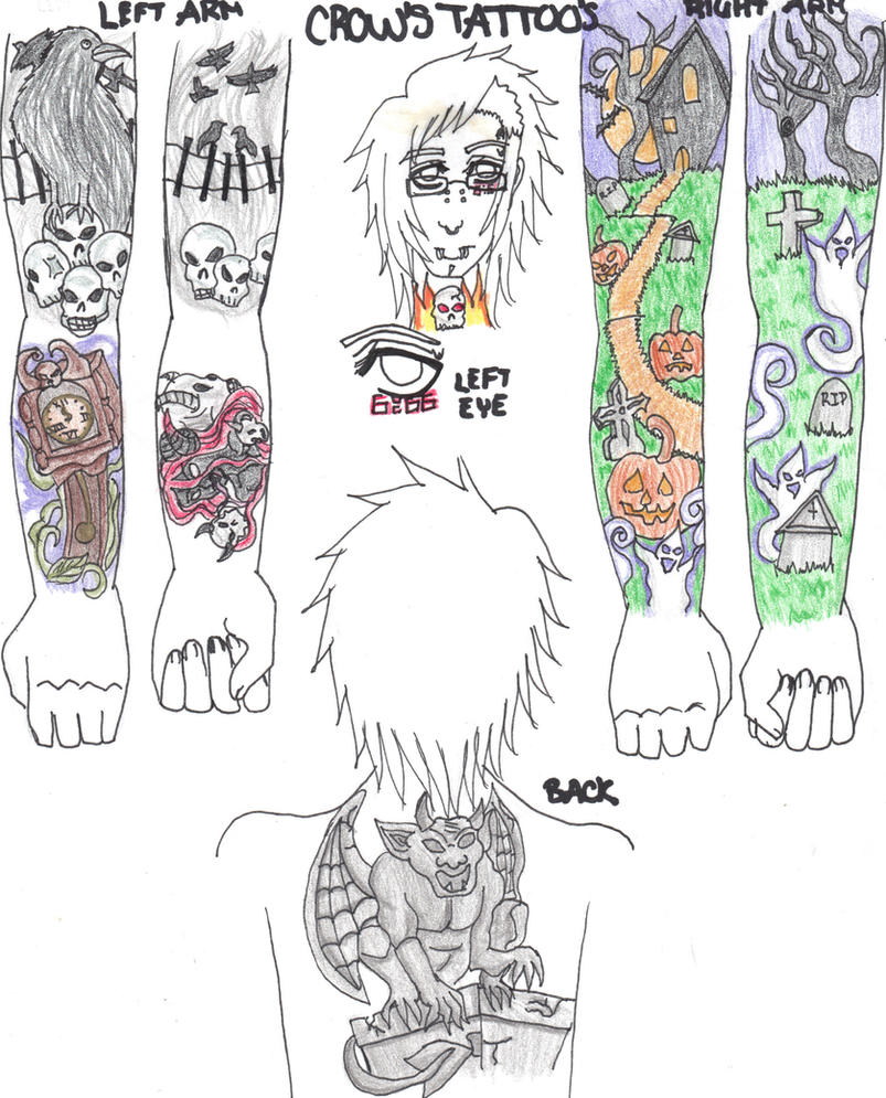 rs crow 39 s tattoos by fatalrain on deviantart. Black Bedroom Furniture Sets. Home Design Ideas
