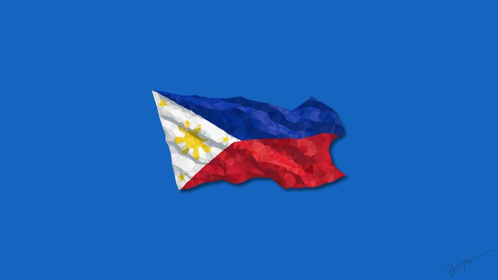 Philippine Flag Low Poly Art By Kurijezatives