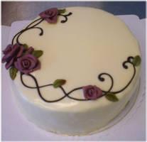 Rosy White Chocolate Cake