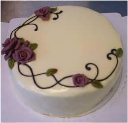 Rosy White Chocolate Cake by Junie-zidye