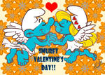 Cupid Smurfs in Love