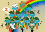 St. Patrick's Day Smurfs