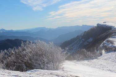 Le plateau d'Ambel sous la neige