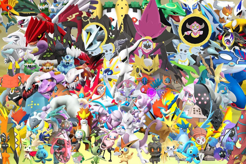 All Legendary Pokemons In 3d Wallpaper By Genoforsmash On Deviantart