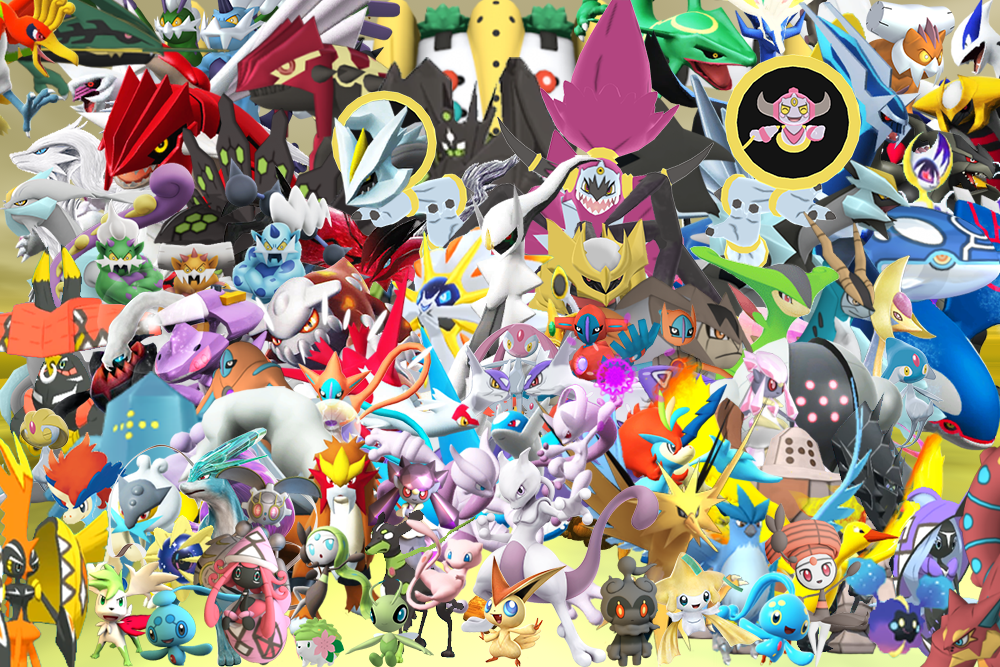 All Legendary Pokemons in 3D Wallpaper by GenoForSmash ...