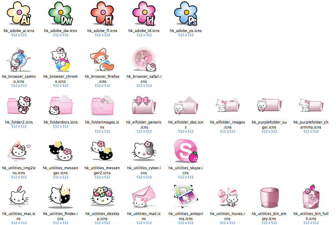 Hello Kitty Mac Icons By Mantio Art On Deviantart