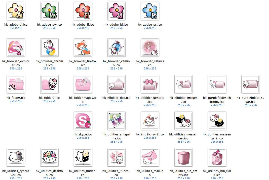 Hello Kitty Windows Icons By Mantio Art On Deviantart
