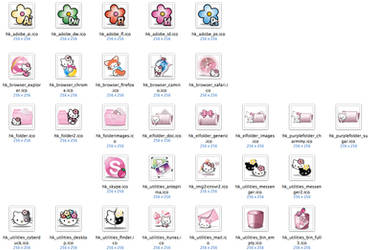 Hello Kitty - Windows Icons by 3dera