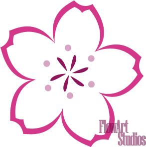 how to draw sakura flower