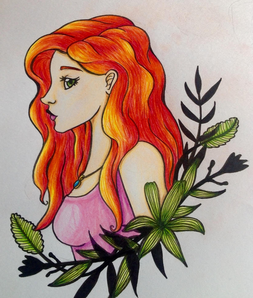 Girl coloured by Xinmai