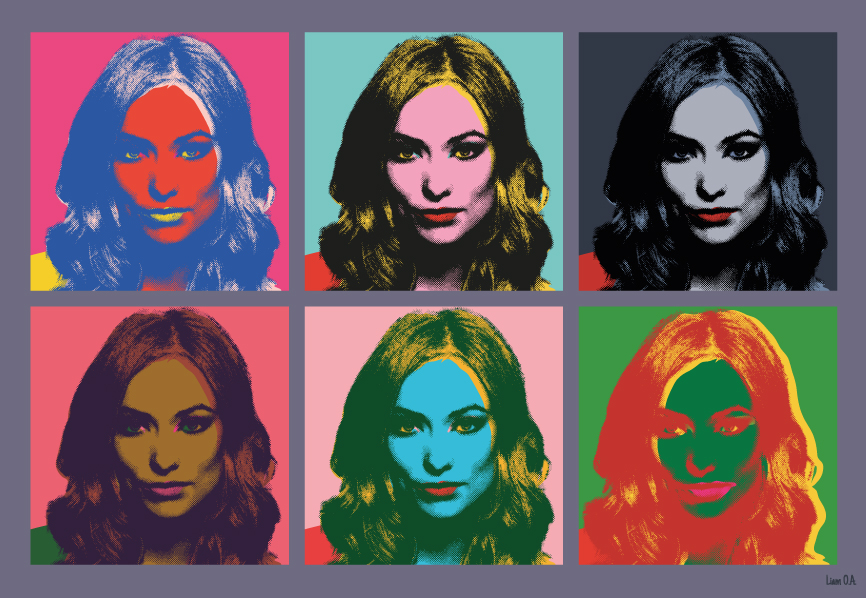 Fabuleux Olivia Wilde portrait, pop art Andy Warhol Style by scaravi on  TH72