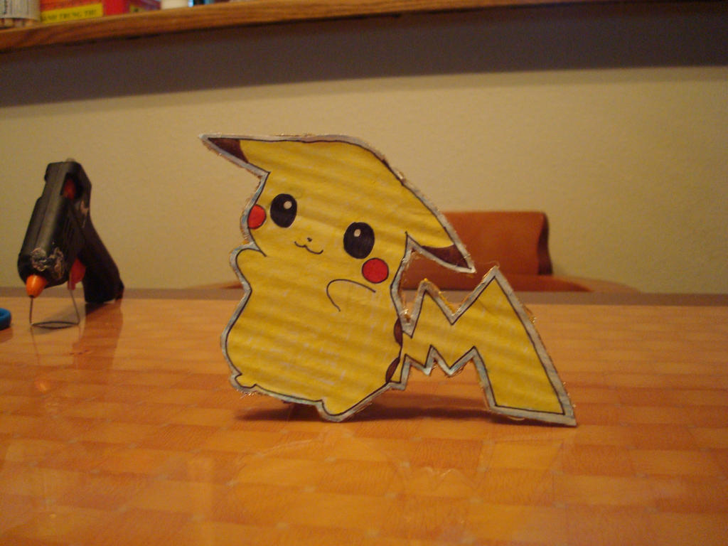 Pikachu standing with tail by tinani81600 on deviantART