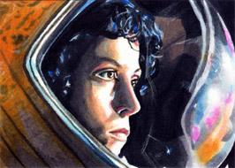 Alien - Ripley - Sketch Card by veripwolf