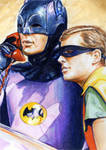 Batman and Robin Sketch Card