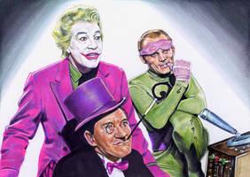 Joker, Penguin And Riddler by veripwolf