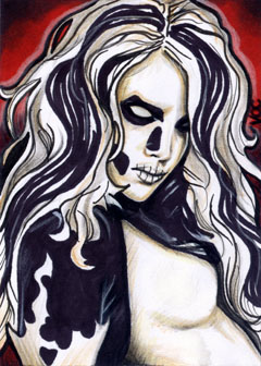 Silver Banshee Sketch Card by veripwolf