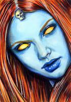 Mystique Sketch Card 4 by veripwolf