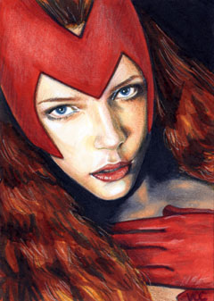 Scarlet Witch Sketch Card 1 by veripwolf