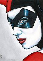 Harley Quinn Sketch Card 1 by veripwolf