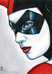 Harley Quinn Sketch Card 1