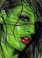 She-Hulk Sketch Card 5 by veripwolf