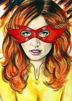 Firestar Sketch Card 4